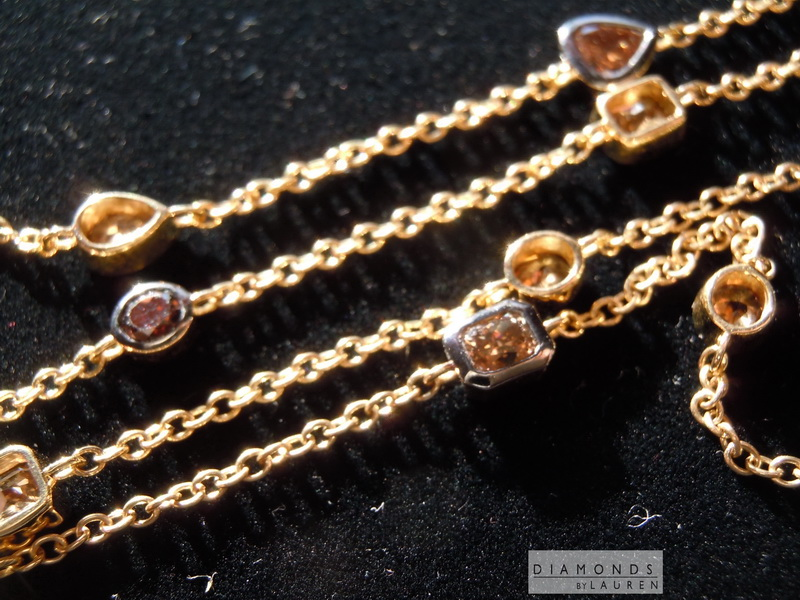 brown diamond necklace