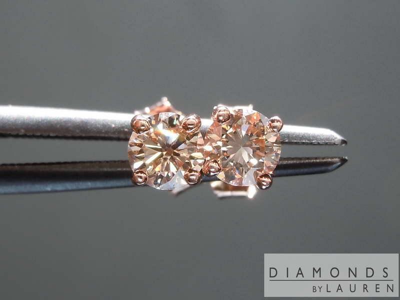 natural brown diamond earrings