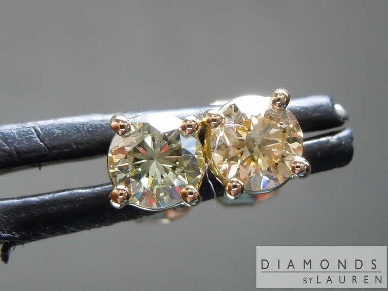 green diamond earrings