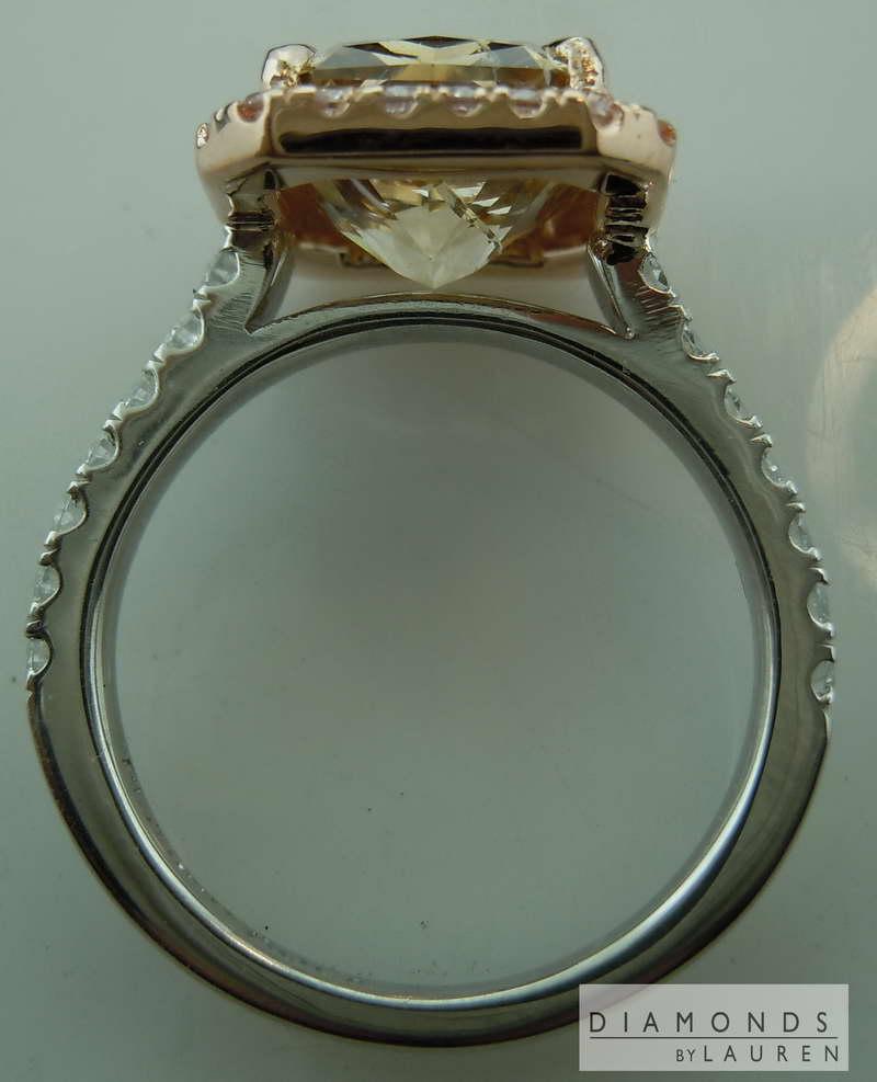 natural brown diamond ring