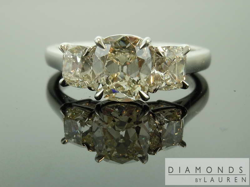 near colorless diamond ring