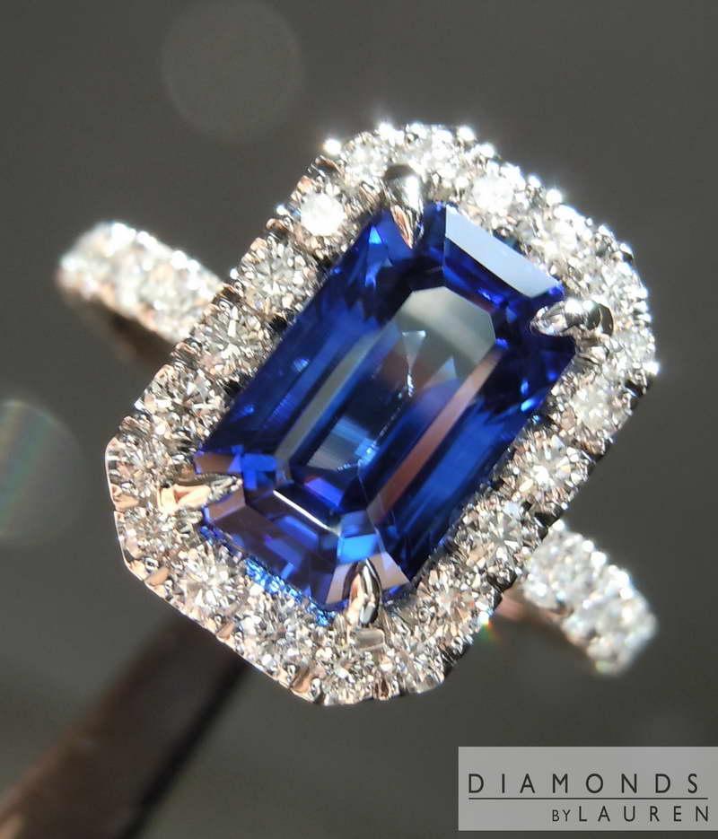 2 76ct Emerald Cut Sapphire Ring