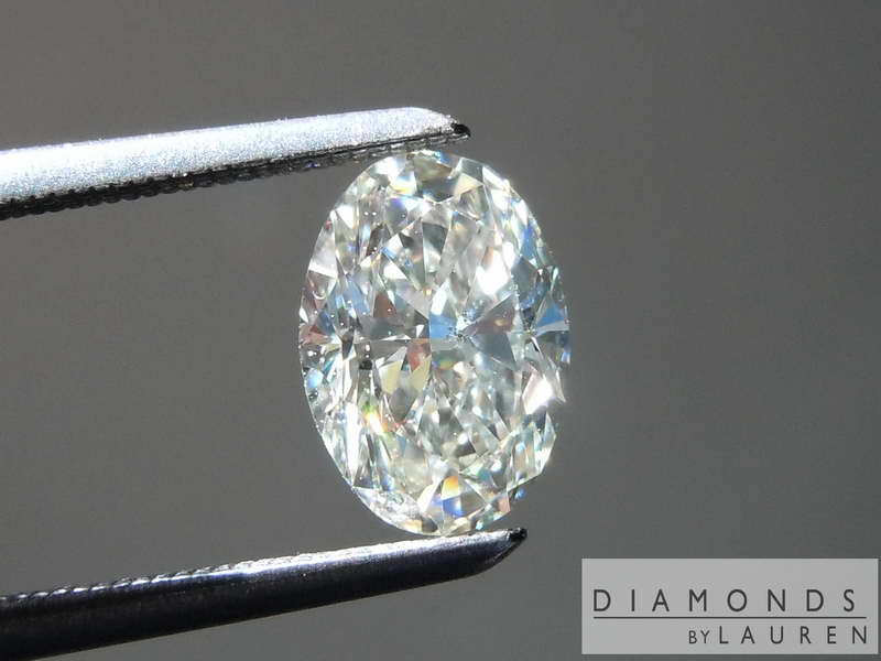 1 07ct J Si1 Oval Diamond Ring