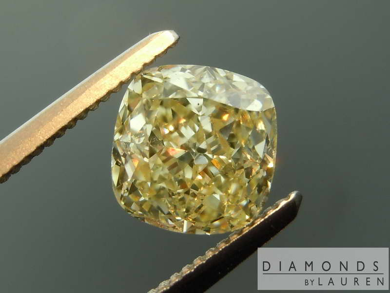 natural yellow coloress diamond