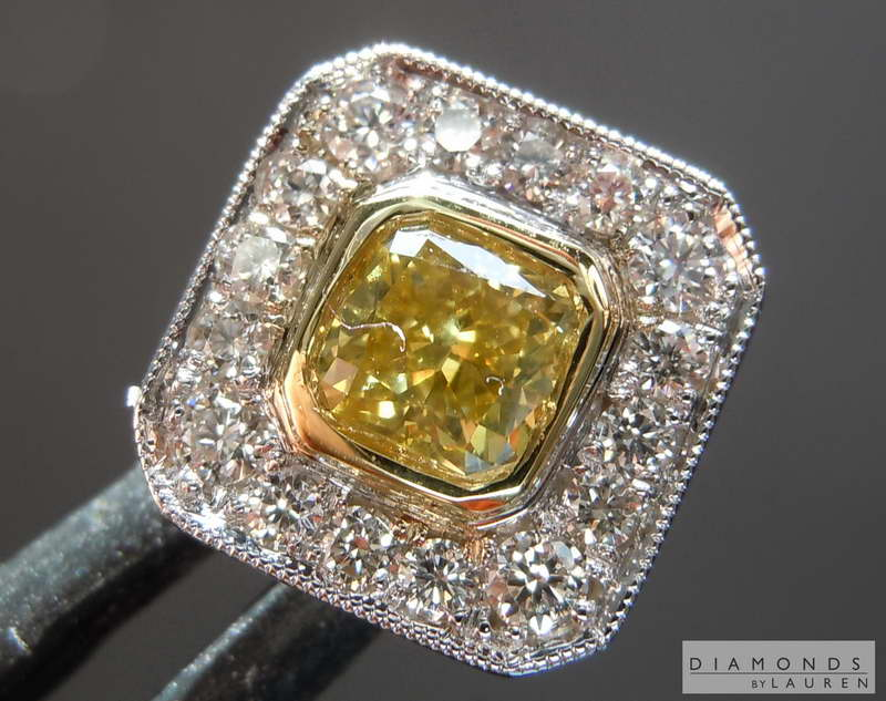 yellow diamond tie tack