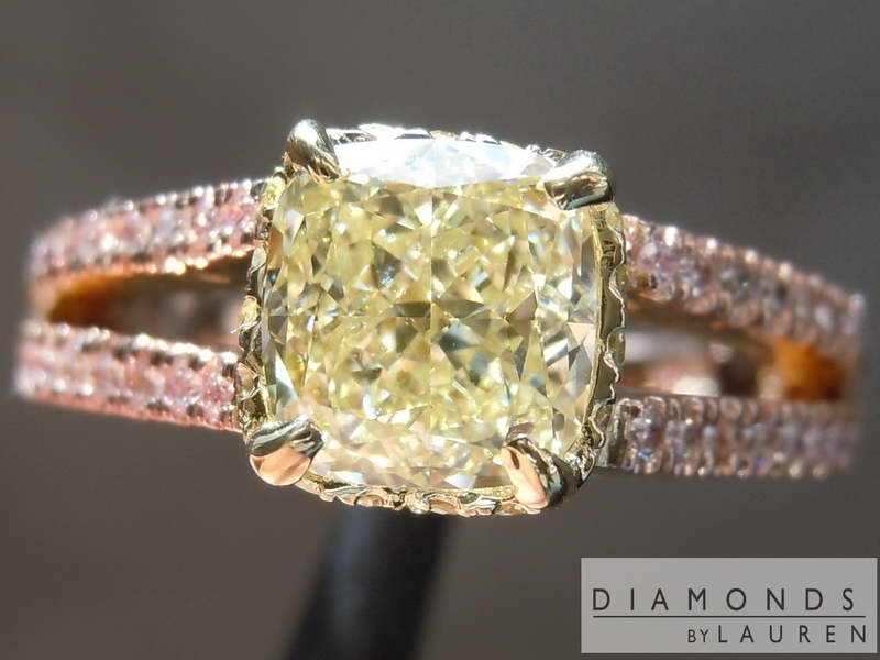 pink lemonade diamond diamond ring