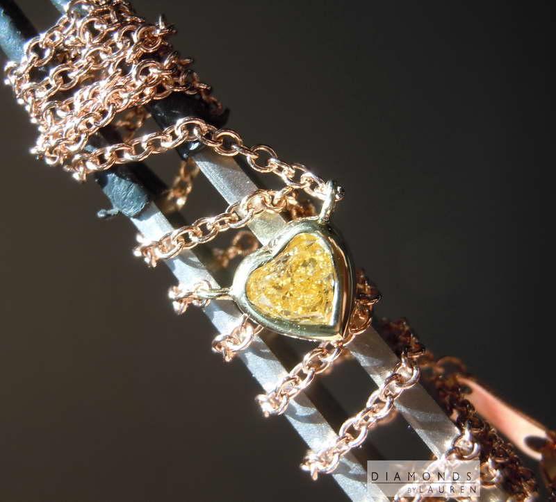 canary diamond pendant