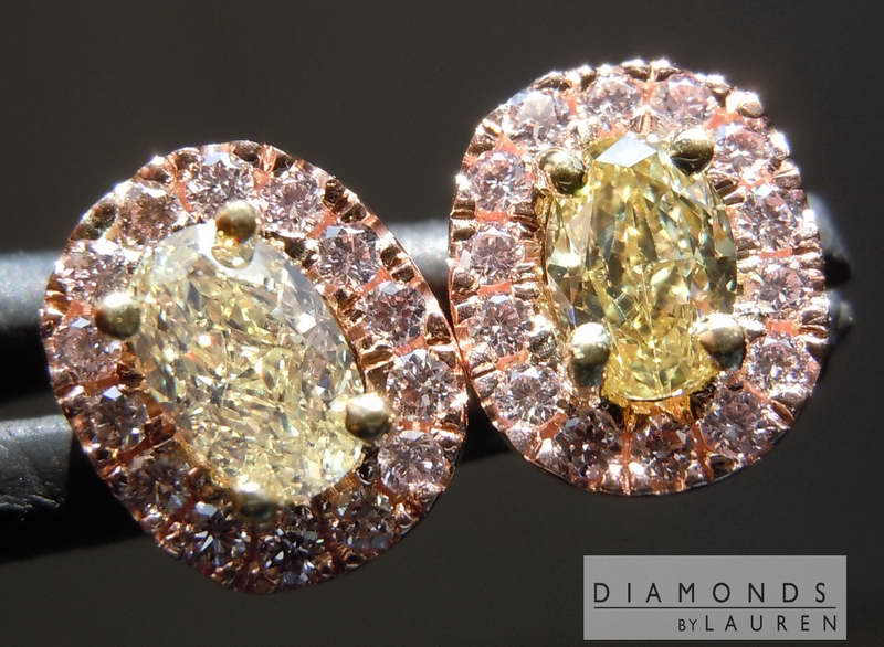 light yellow diamond earrings