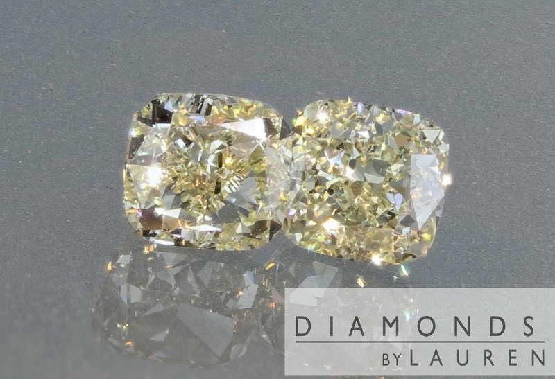 light yellow diamond earrings