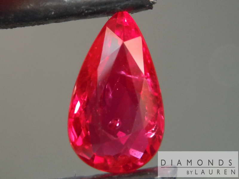 natural ruby pear