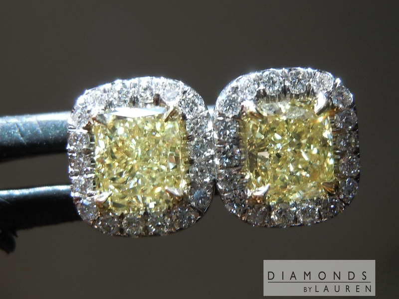 yellow diamond earrings