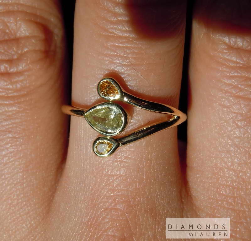 orange diamond ring