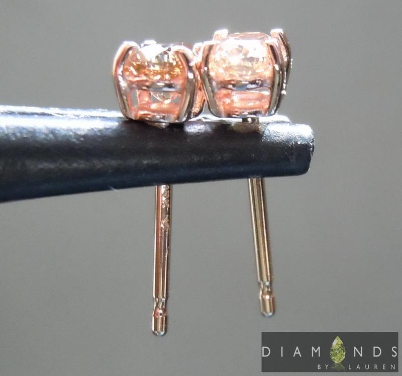 brown diamond earring
