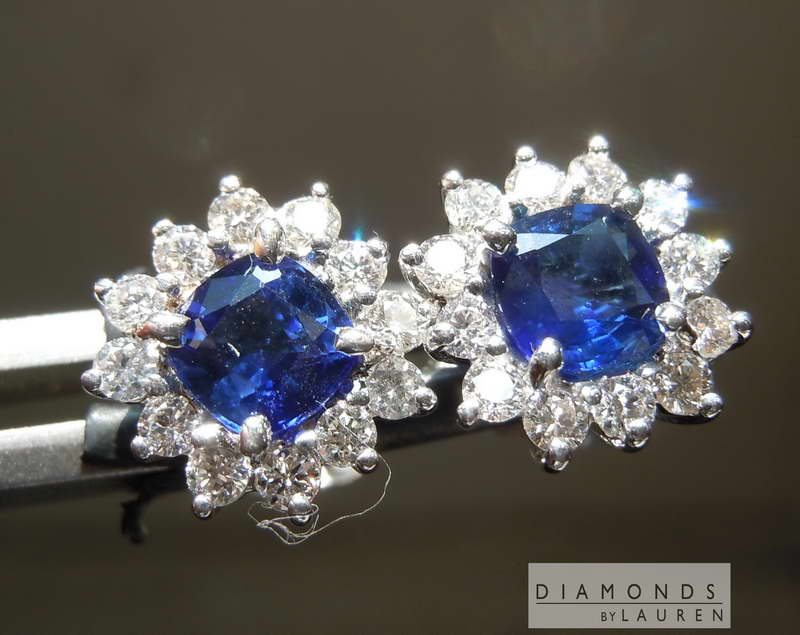 natural blue sapphire earrings