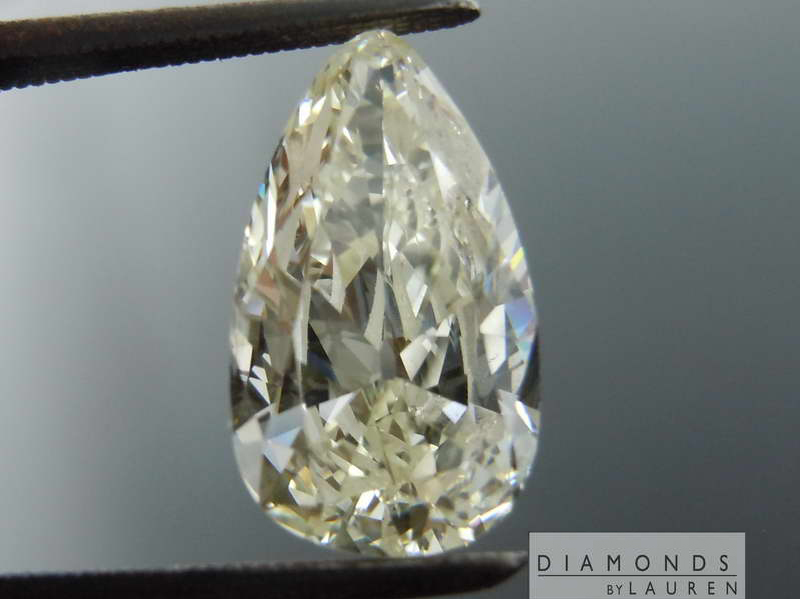 very light yellow diamond ring