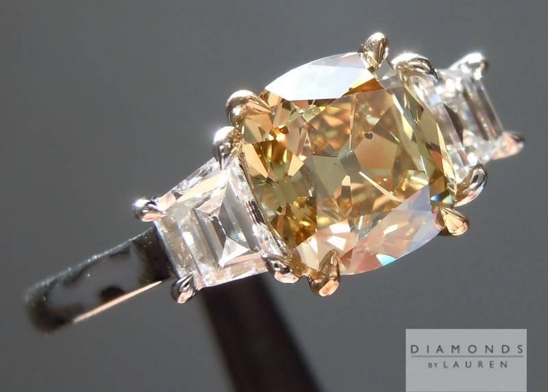 brownish yellow diamond ring