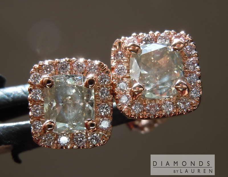 pink diamond earrnings