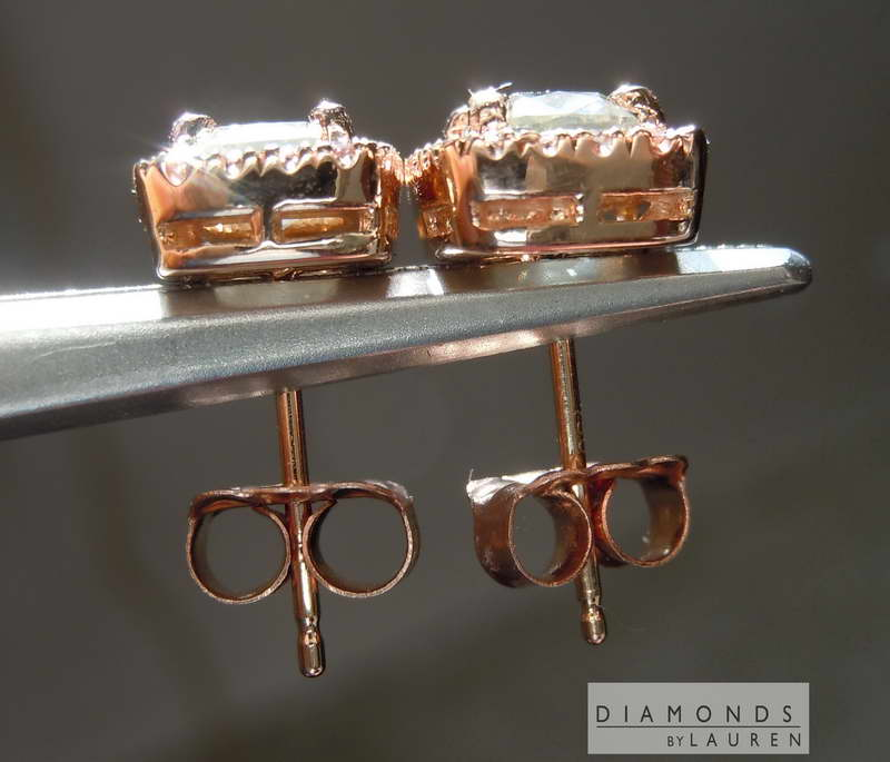 gray diamond earrnings