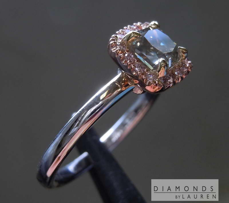 gray diamond ring