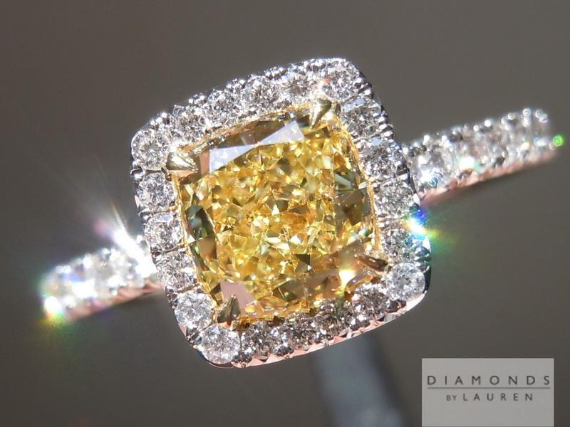 intense yellow diamond ring
