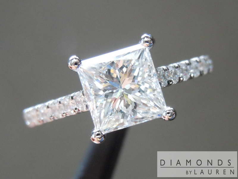 nearly colorless diamond ring