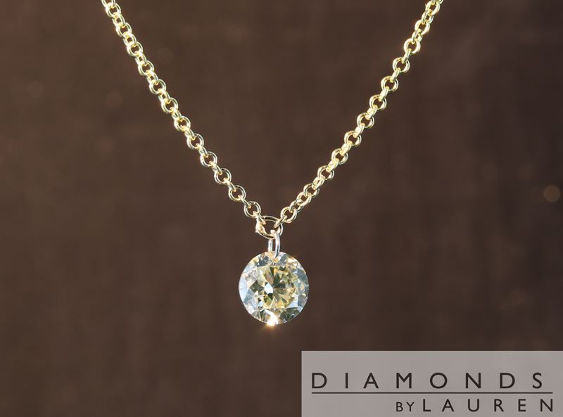 light yellow diamond pendant