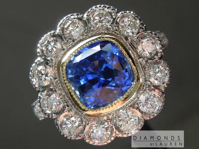 sapphire and diamondring