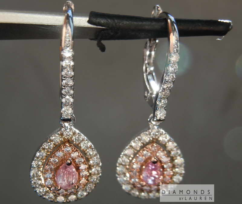 natural purple diamond earrings