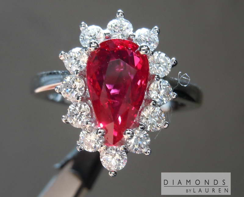 pear ruby ring