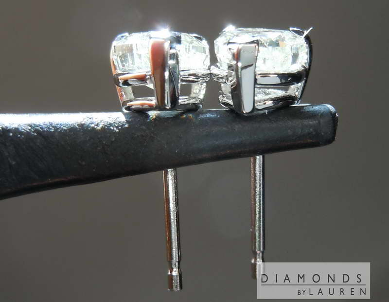 ivory diamond earrings