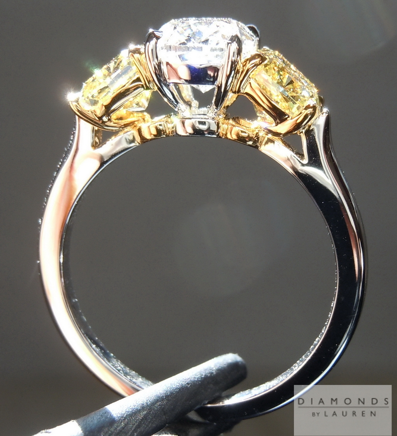 colorless diamond ring
