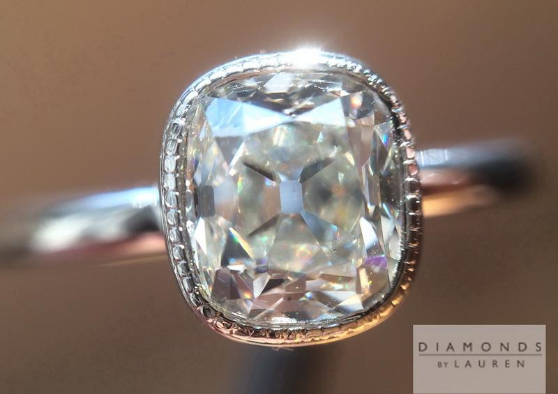 near colorless diamond ring