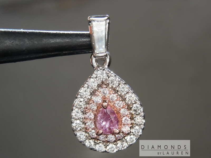 purple diamond pendant