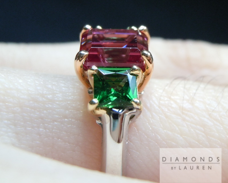spinel and tsavorite ring
