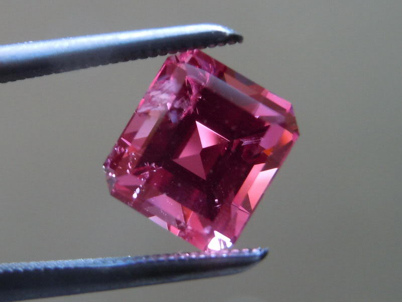 1 77ct Pink Emerald Cut Spinel Ring