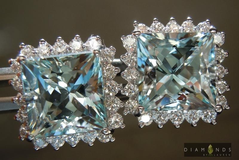 natural aaquamarine earrings