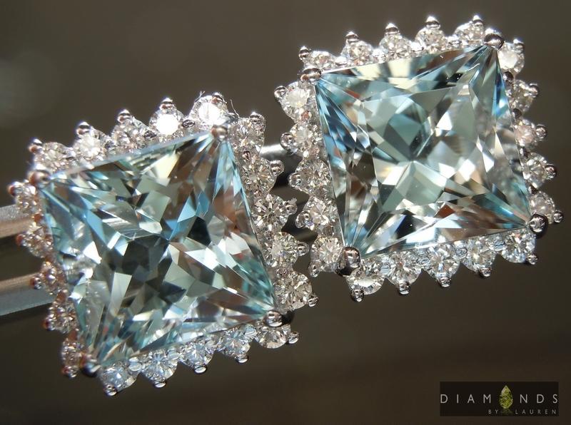 aaquamarine earrings