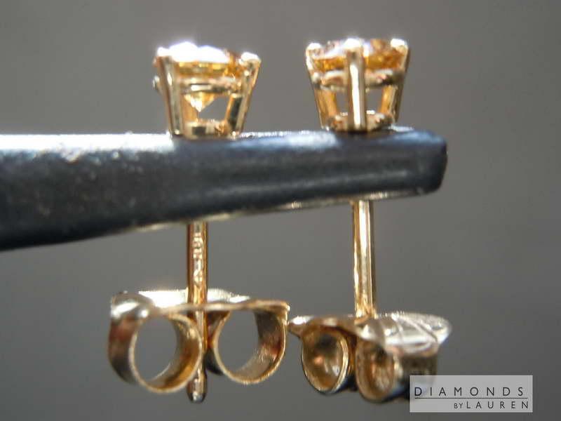 pumpkin diamond earrings