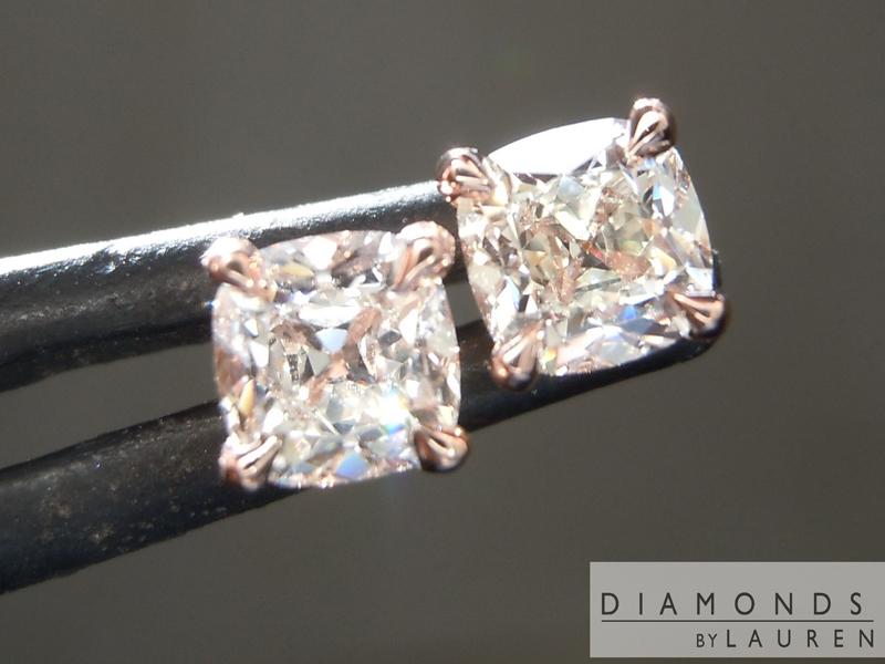 old mine diamond earrings