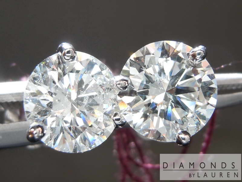 near colorless diamond earrings