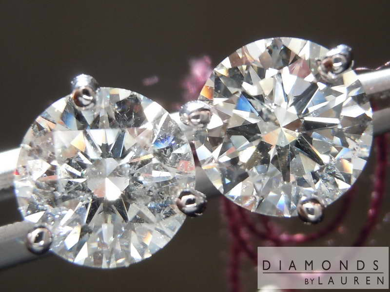 colorless diamond earrings