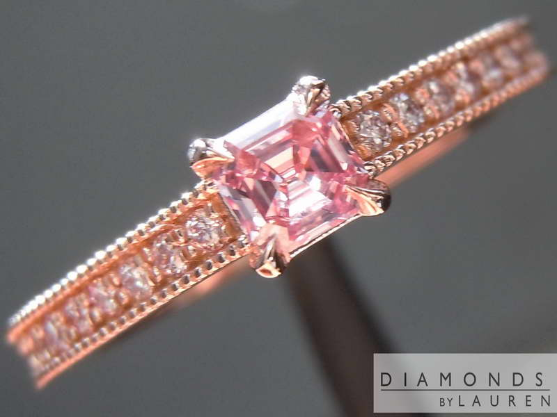 natural pink diamond ring