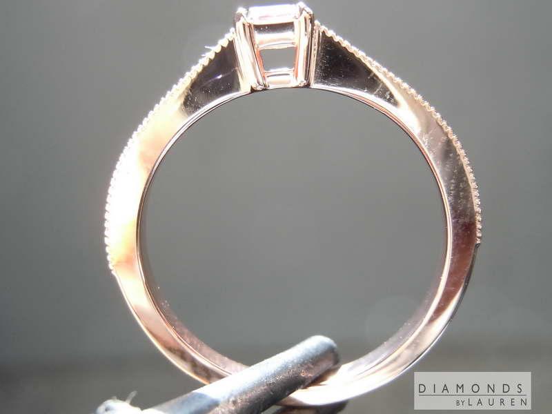 pink asscher ring