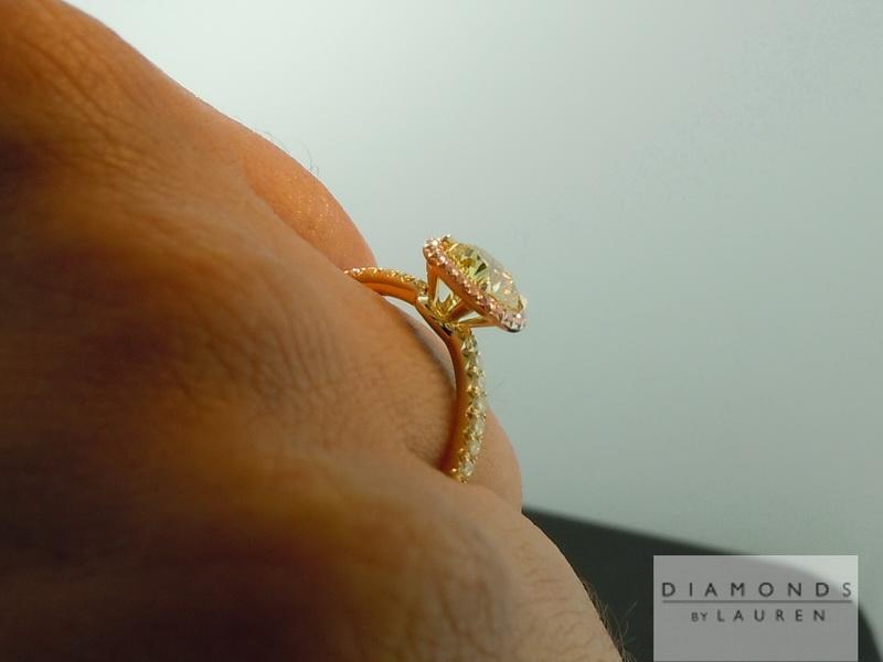 pink lemonade diamond ring