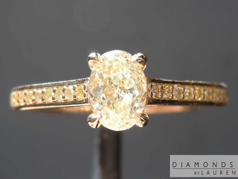 light yellow diamond ring