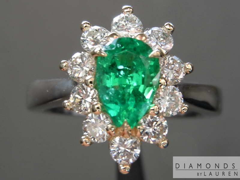 pear emerald ring