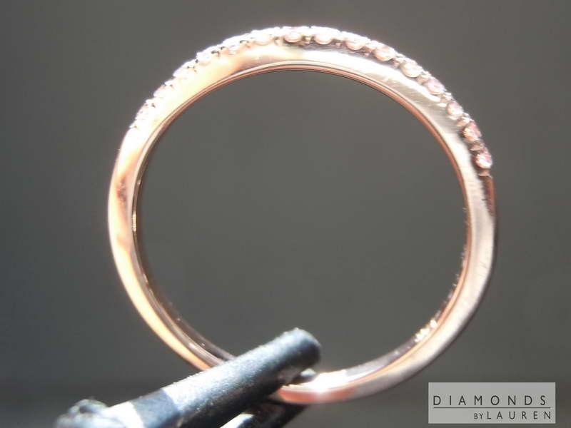 pink diamond wedding ring