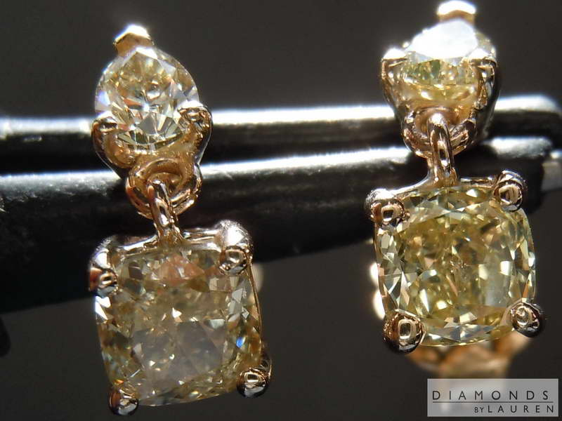 yellow diamond earring