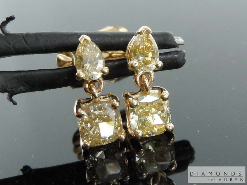 canary diamond earring