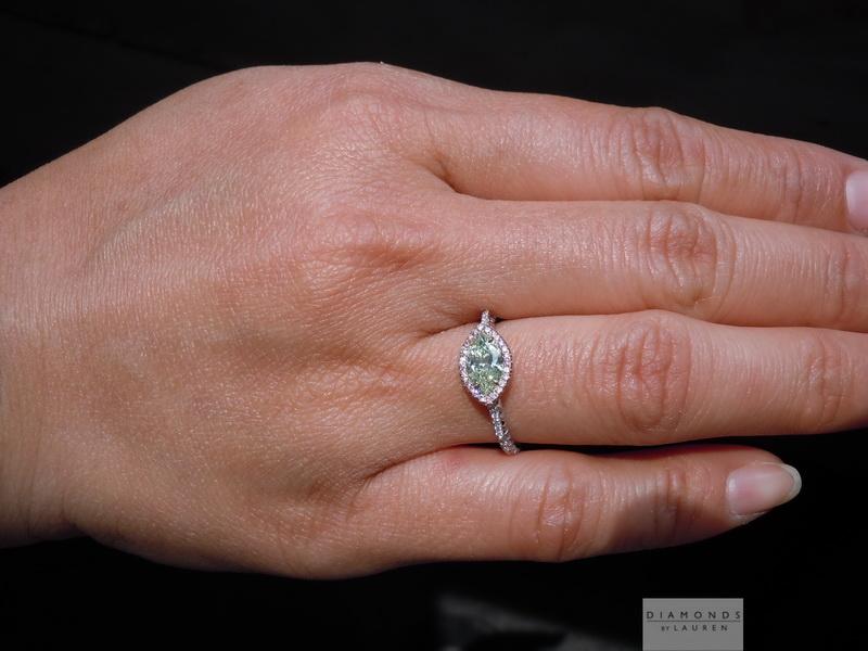 67ct Green Marquise Vs1 Diamond Ring